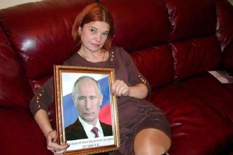 Сепаратистка Оксана Шкода з обожнює Путіна