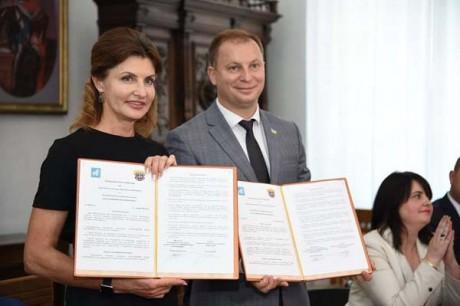 На Тернопільщині з робочим візитом побувала дружина Президента України Марина Порошенко